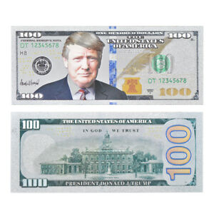 WR-Trump-US-100-Dollar-Bill-Silver-Foil-America-Novelty-Banknote-Cards-Gift-2018