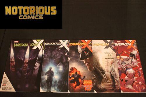 Weapon X 7 8 9 10 11 Complete Comic Lot Run Set Weapon H Marvel EXCELSIOR BIN
