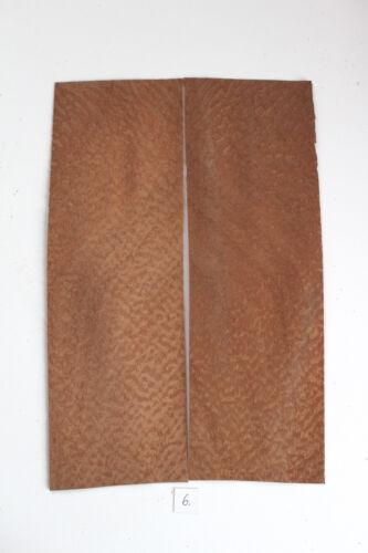 2 Blatt altes Mahagoni Pommelé Furnier 0,7mm Möbel Restaurierung Antik  placage