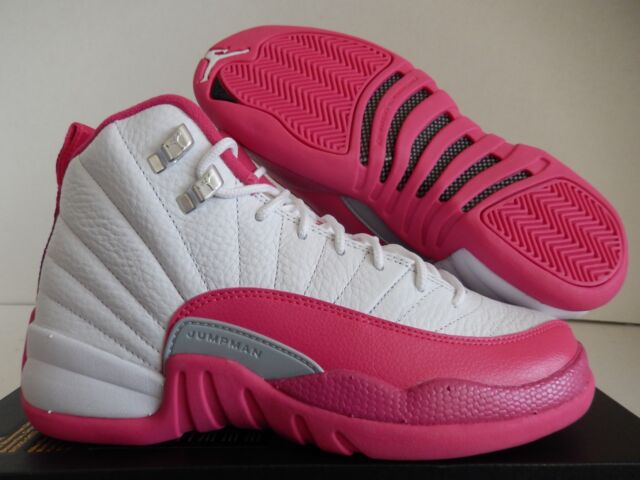 5d048e9a36f Size 4.5 Youth Nike Air Jordan 12 Retro GG White/pink 510815 109 for ...