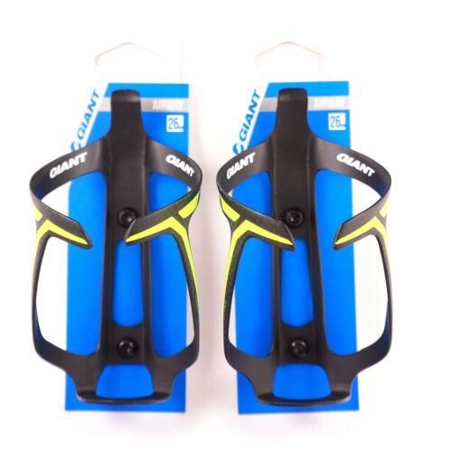 Matt Black /& Yellow GIANT Airway Carbon Water Bottle Cage