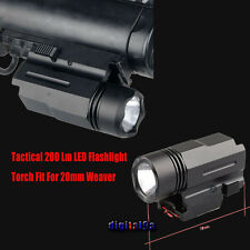 CREE LED Flashlight Torch Pistol Glock 17 19 20 21 22 23 Weaver/Picatinny rail