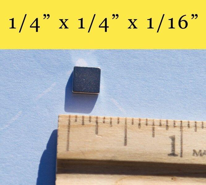 Lot de 300-Neodymium Rare Earth Magnets 1 4 x1 4 x1 16  en forme de carré