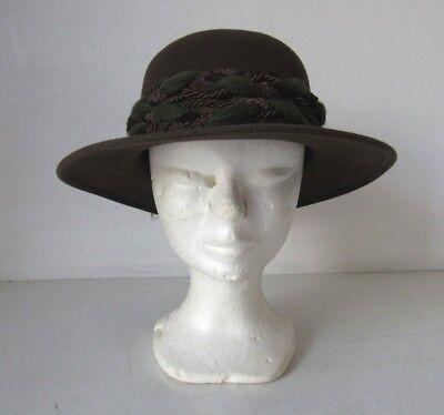 CAPPELLO DONNA ANNI 60/70 IN PANNO MARRONE | eBay