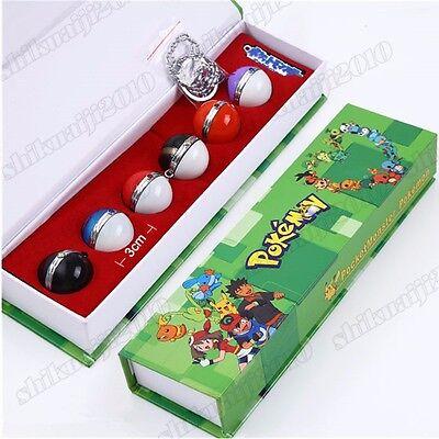 Pocket Monster Pokemon Poke Ball 7pcs Set Cosplay Props Toys Gift New in Box