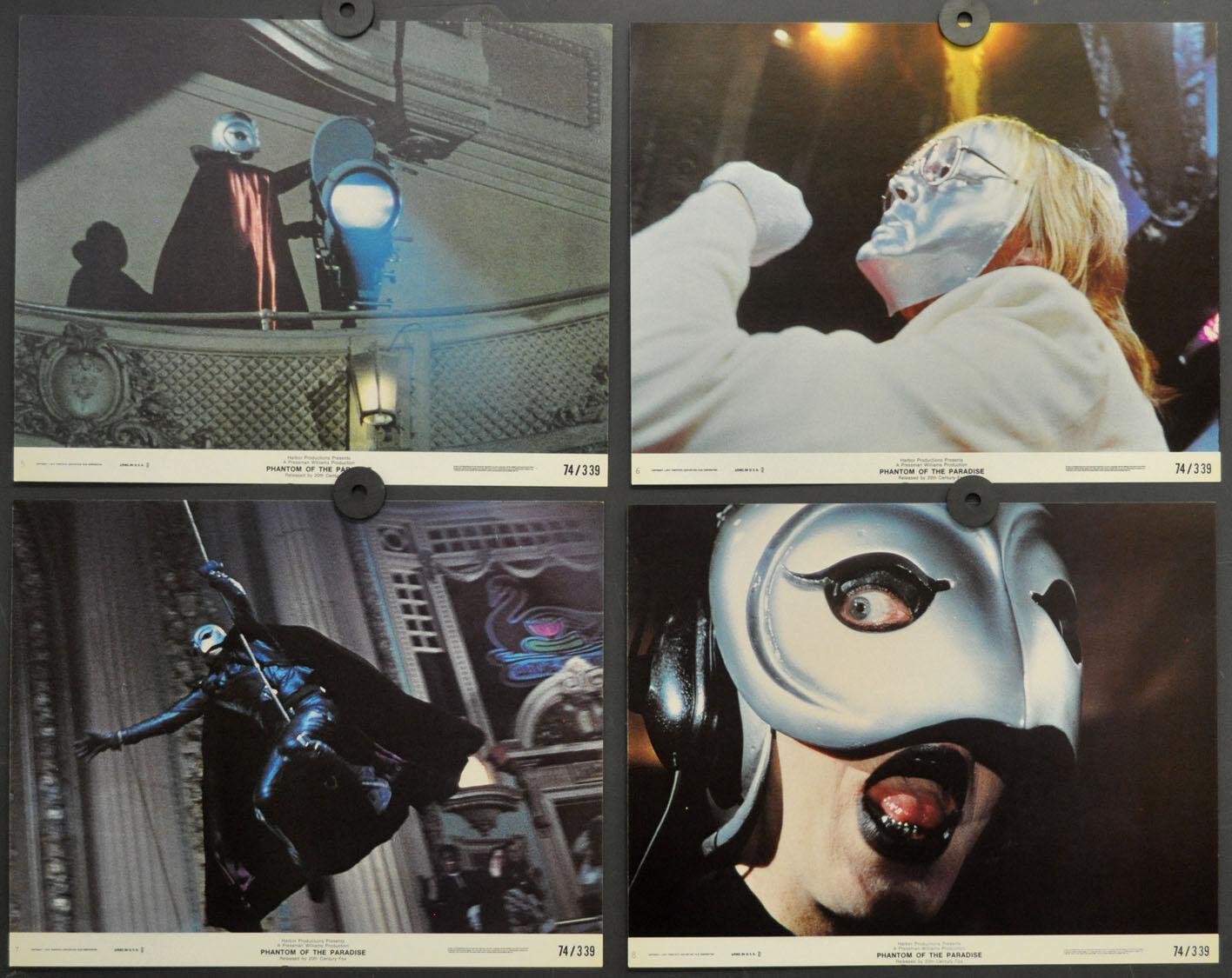 Phantom Of The Paradise 1974 Orig 8X10 Lobby Karte Set Paul Williams