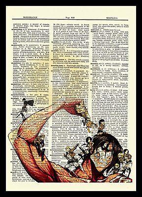 Attack On Titan Anime Dictionary Art Print Poster Picture Eren Levi Mikasa Armin