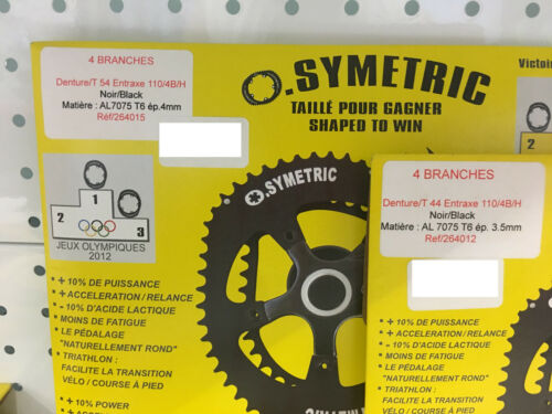 Osymetric BCD 110mm x 4Bolt Shimano 11Speed Chainring Set