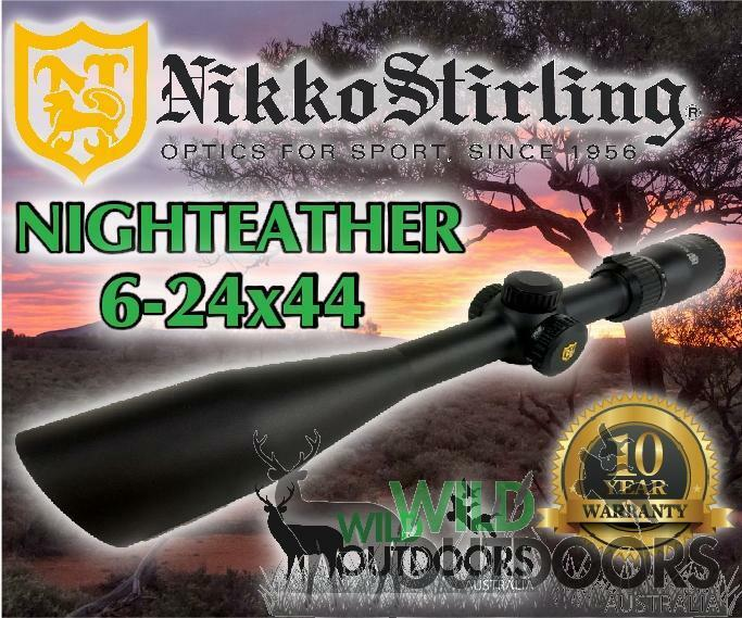 Nikko Stirling-rifle noche Eater - 6-24x44 SF - 4 Plex retícula dúplex