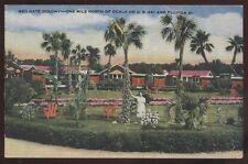 Postcard OCALA Florida/FL  Red Gate Colony Tourist Inn view 1930's?