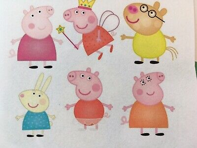 dunkle Stoffe Transferfolie Applikation Puppenkleidung 1 Set Peppa Pig helle