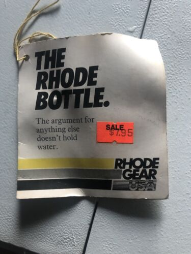 White New-Old-Stock Rhode Gear Water Bottle and Clamp-On Cage Vintage