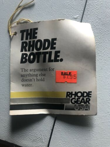 New-Old-Stock Rhode Gear Water Bottle and Clamp-On Cage Vintage White