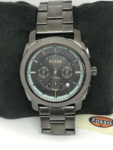 Fossil-FS5172-Men-Stainless-Steel-Analog-Gunmetal-Dial-Quartz-Wrist-Watch-QB327