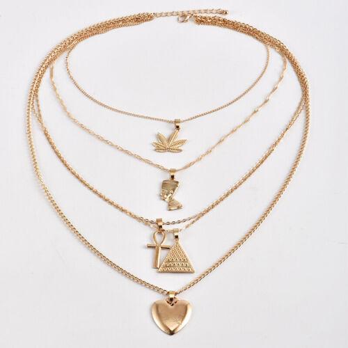 Retro Maple Leaf Women/'s Party Chocker Casual Jewelry Alloy Pyramid Love Pendant