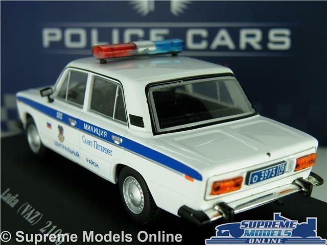 LADA LADA LADA VAZ 2106 POLICE MODEL CAR 1 43 SCALE IXO ATLAS 7598009 RUSSIAN RUSSIA K8 c29359