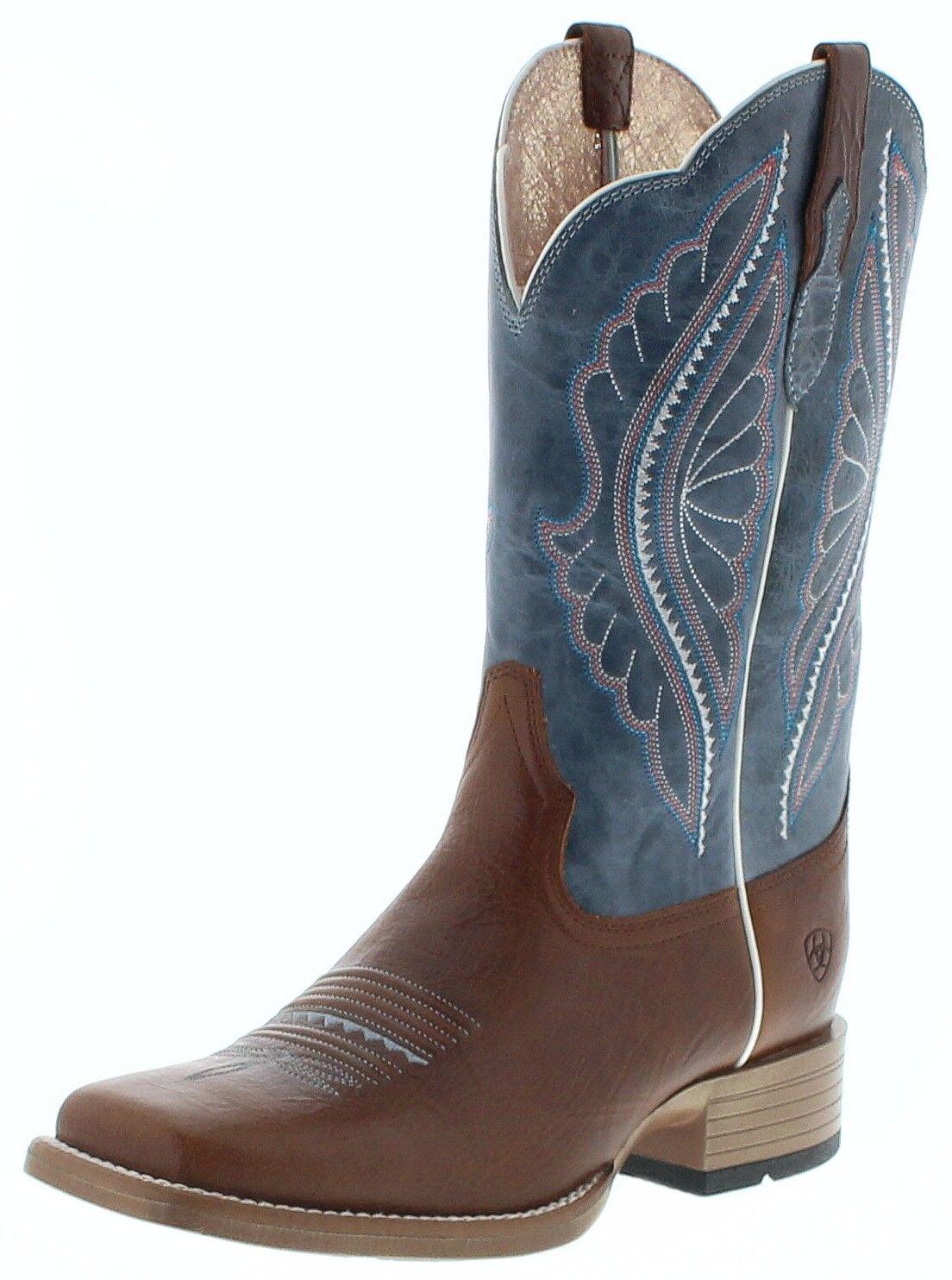 Ariat 25032 Primetime Donna Western MONTALA Stivali Cowboy Stivali Stivali Di Pelle Marronee
