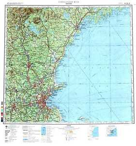 Russian Soviet Military Topographic Maps BOSTON USA 1500 000