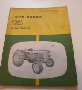 John Deere 510 Schlepper Bedienungsanleitung Betrieb Wartung ca 1968