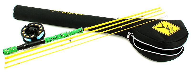 Echo Gecko Gecko Gecko Kit 7' 9  ft  4 5 WT 4 PC caña con mosca incluye carrete, línea, líder y Estuche ad5bf5