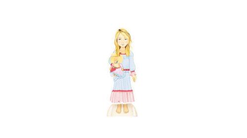 Anziehpuppe Ankleidepuppe Prinzessin Pippa Ella  zum Ausschneiden Mauder