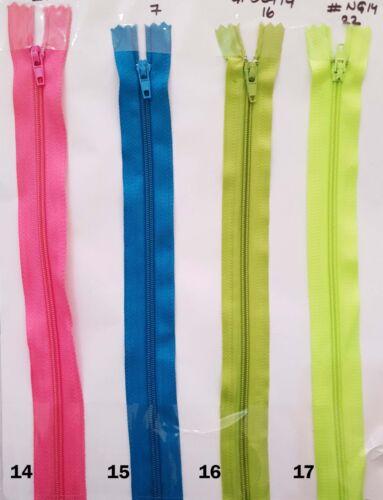 no Tamaño 3 Colores Cremalleras De Nylon Extremo Cerrado y Costura hágalo usted mismo Manualidades Longitud Co 5 X