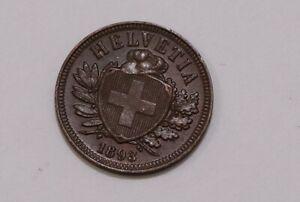 SWITZERLAND-2-RAPPEN-1893-HIGH-GRADE-B29-6586