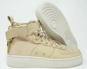 new concept 879ff ac09e Details about Nike Air Force 1 Mid Mushroom Light Brown Tan Womens GS Size  5Y / 6.5 Womens