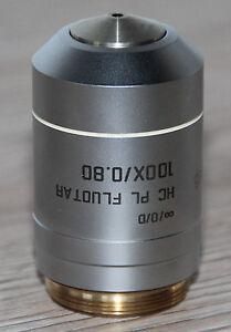Leica-Mikroskop-Microscope-Objektiv-HC-PL-FLUOTAR-100x-0-80-Leica-Nr-101147