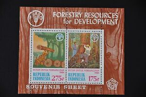 INDONESIA-1984-BL-62-FORESTRY-MNH