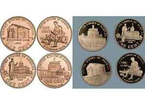Complete-Set-Lincoln-Bicentennial-2009-Cent-Penny-P-amp-D-amp-PROOF-12-UNC-Coins