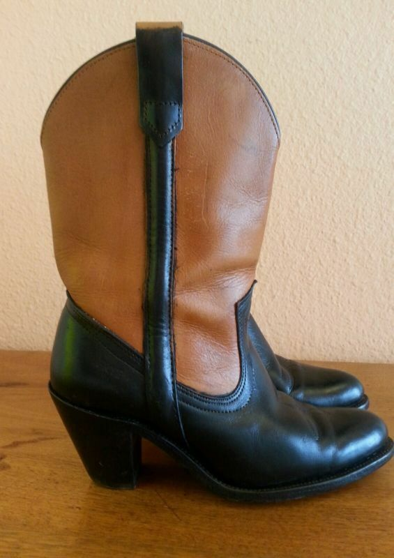 VINTAGE FRYE BOOTS WOMENS PAINTED SIZE 7.5 HAVE BEEN PAINTED WOMENS L@@K d10e1c