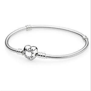 NEW-925-Silver-Snake-Chain-Bracelets-Bangle-Suit-sterling-European-Beads-Charm
