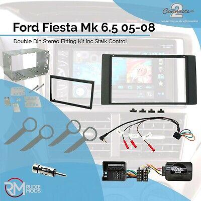 Ford fiesta Facelift Mk6.5 doble DIN STEREO Facia Kit de adaptador de tallo de montaje