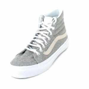 55721f00592 VANS SK8-HI SLIM J S SKATE MEN SZ 7   WOMEN SZ 8.5 SHOES GREY ...