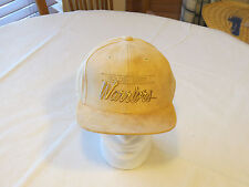 Men's Mitchell & Ness Micro Suede Snapback Hat Cap Golden State Warriors OS