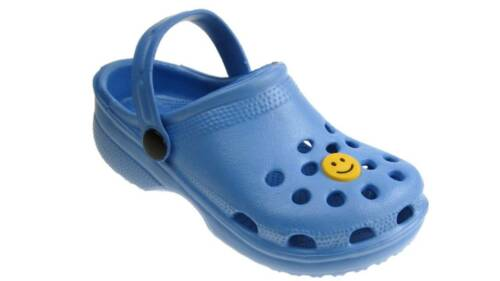 garçons sabots plage été Clog Chaussures de surf Bleu Clair UK 4-2 nouveaux Filles