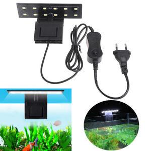 12 LED Aquarium Light Fish Tank Clip on Plant Grow Lighting Lamp EU Plug 220v