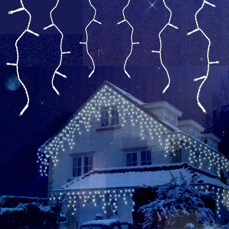FlashMotion Eiszapfen Lichterkette mit Blitzlicht Effekten Weihnachtsbeleuchtung
