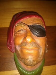 VINTAGE BOSSONS CHALKWARE 1960'S HEAD ENGLAND - SMUGGLER PIRATE GOOD CONDITION