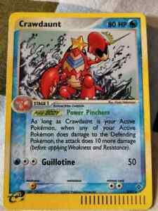 POKEMON-CRAWDAUNT-HOLO-RARE-2003-3-97-EX-Dragon-Set-PSA-9-MINT-TRADING-CARD