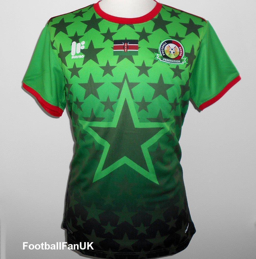 Kenia Oficial Mafro Fútbol Visitante Camisa 2017-2018 Nuevo Hombre Jersey verde