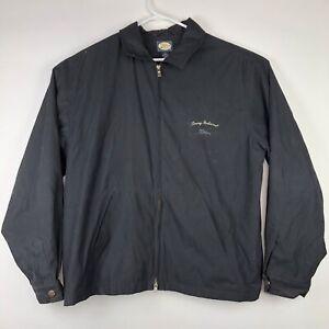 Black-Tommy-Bahama-Golf-Logo-Full-Zip-Windbreaker-Jacket-Sz-L-Large-Embroidered