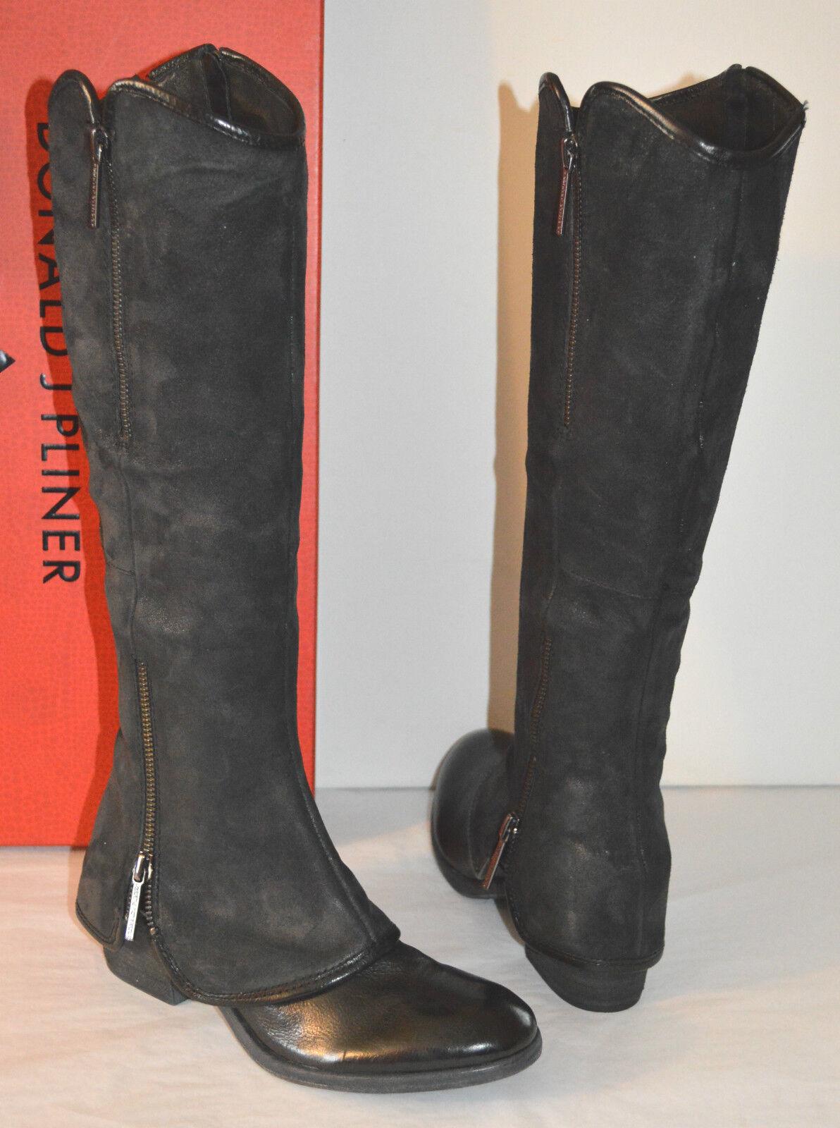 100% autentico New  398 Donald J J J Pliner DEVI4  nero Suede Leather Reverse Calf Tall stivali sz 5  più economico