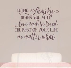 Family-039-s-Love-Rest-Of-Your-Life-Vinyl-Lettering-Decals-Family-Wall-Sticker-Quote
