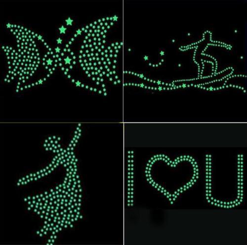 100 Kids Bedroom Fluorescent Shining Stars Glow The Dark Stars Wall Sticker star