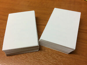 100 white blank business cards 250gsm stamp print white smooth image is loading 100 white blank business cards 250gsm stamp print reheart Gallery