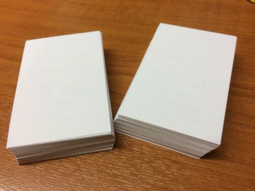 Blanco Liso Tarjeta impresión sello 100 tarjetas de negocios en blanco blanco 250gsm