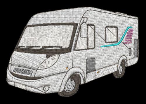 HYMER Camper Van Ricamato /& Personalizzato Felpa Con Cappuccio