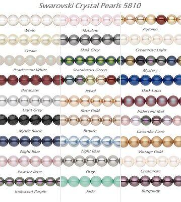 Dark Purple 100 pcs Swarovski Element 5810 5mm Round Ball Crystal Pearl Beads